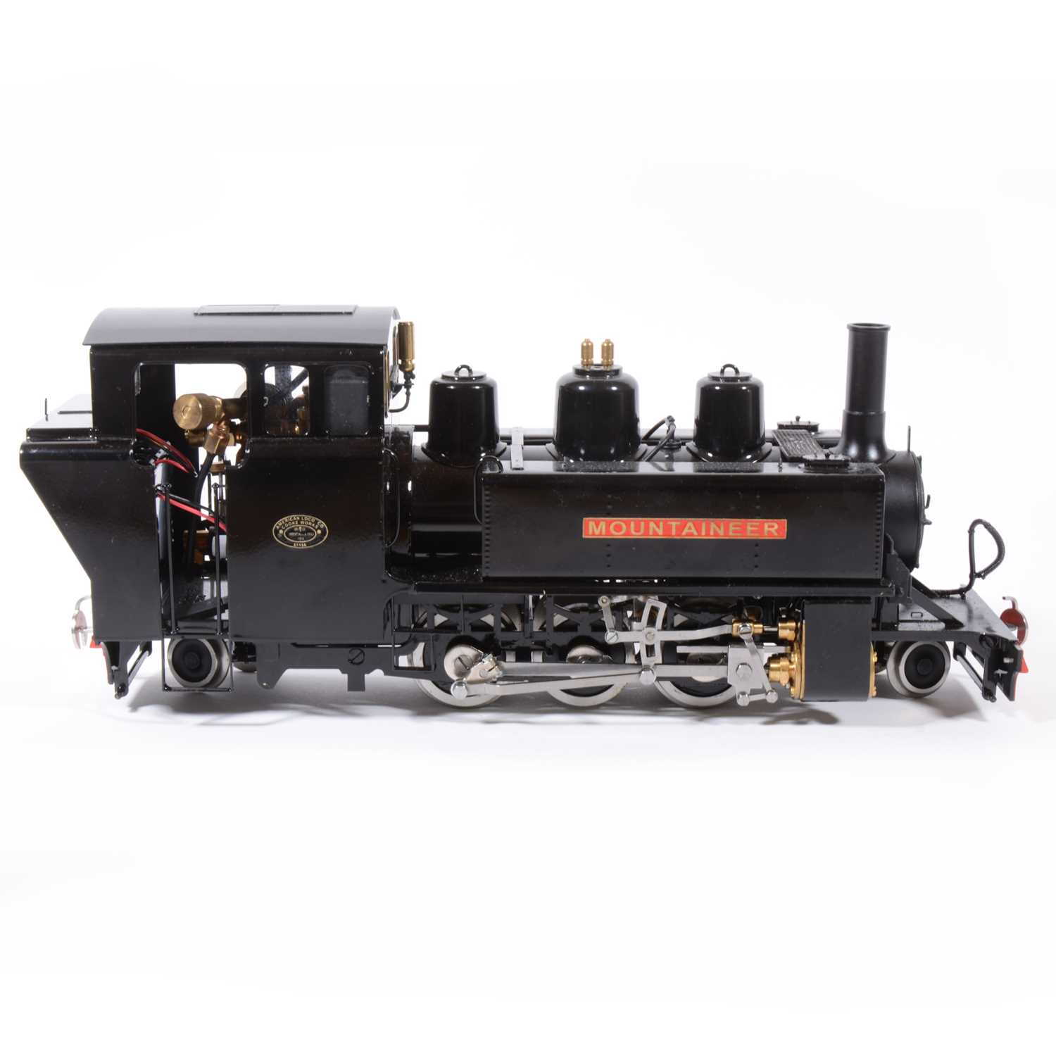 Lot 6-Roundhouse live steam, gauge 1 / G scale, 45mm locomotive, 'Mountaineer' 2-6-2 black, with instructions, with RC