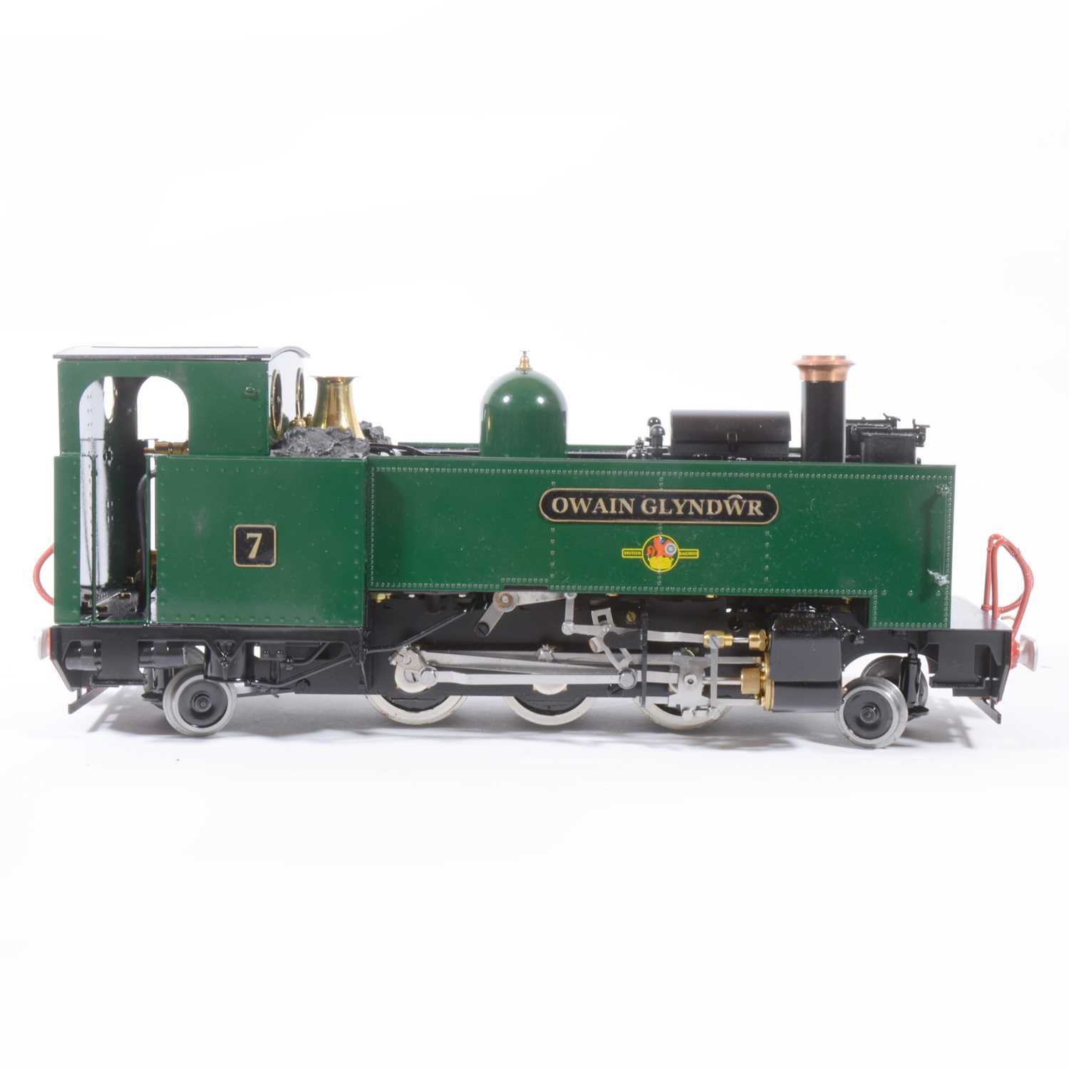 Lot 8 - Roundhouse live steam, gauge 1 / G scale, 45mm locomotive, Vale of Rheidol 'Owain Glyndwr' 2-6-2 tank, no.7, with instructions, with RC