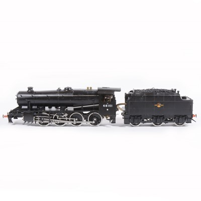 Lot 9-Bowande live steam, gauge 1 / G scale, 45mm locomotive and tender, 8F 2-8-0 no.48151, black, boxed with instructions.