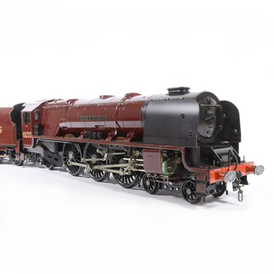 Lot 10 - Aster Hobby live steam, gauge 1 / G scale, 45mm locomotive and tender; 'Duchess of Sutherland' 4-6-2 LMS no.6233, in wooden case.