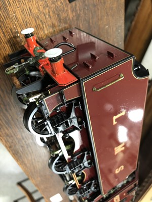 Lot 10-Aster Hobby live steam, gauge 1 / G scale, 45mm locomotive and tender; 'Duchess of Sutherland' 4-6-2 LMS no.6233, in wooden case.