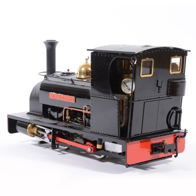 Lot 12-Roundhouse live steam, gauge 1 / G scale, 45mm locomotive, 'Lilla' 0-4-0, added 'Guthlaxton' label to sides, with instructions, accessories and box, with RC