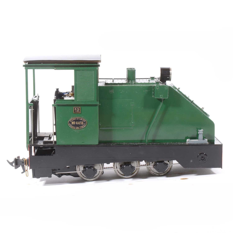 Lot 16-Fell Locomotive Works electric, gauge 1 / G scale, 45mm locomotive, 0-6-0, based on a Kerr Stuart design locomotive no.4415, green, in wooden case.