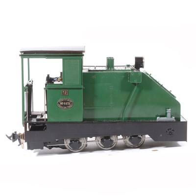 Lot 16-Fell Locomotive Works electric, gauge 1 / G scale, 45mm locomotive, 0-6-0, based on a Kerr Stuart design locomotive no.4415, green, in wooden case.