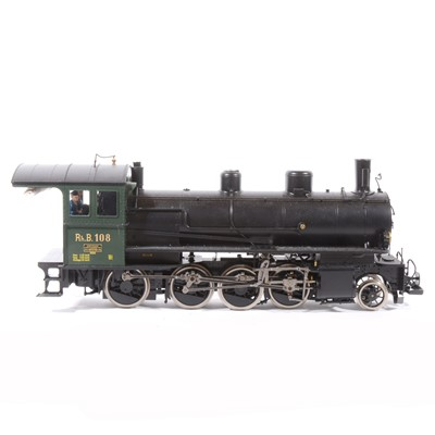 Lot 19-Brawa electric, gauge 1 / G scale, 45mm locomotive and tender, Abyssinian Railway type RhB 4/5 no.108, with instructions and box.