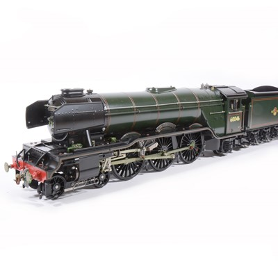 Lot 21-Aster Hobby live steam, gauge 1 / G scale, 45mm locomotive and tender, 'Diamond Jubilee' 4-6-2 BR no.60046, in carry case and accessories.
