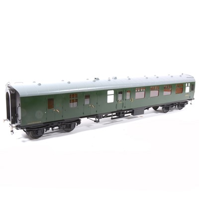 Lot 23-Tower Brass Models, gauge 1 / G scale, 45mm passenger coach, BR green no.S34156, boxed.