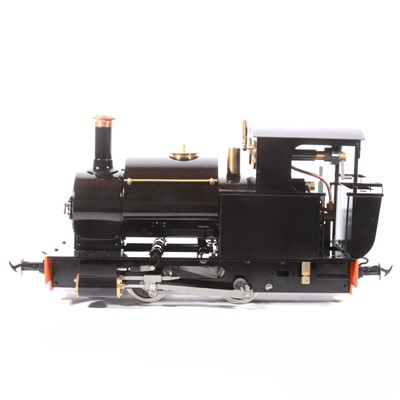 Lot 25-Accucraft live steam, gauge 1 / G scale, 45mm locomotive, Mortimer 0-4-0T, black, accessories and box.