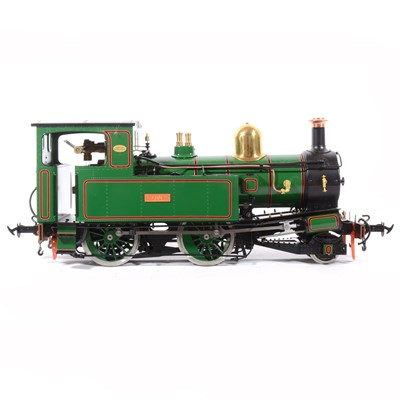 Lot 26-Accucraft live steam, gauge 1 / G scale, 45mm locomotive, Beaver Peacock Isle of Man 'Mannin' 2-4-0T, green, with instructions, accessories and box.