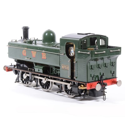 Lot 27-Aster Hobby live steam, gauge 1 / G scale, 45mm locomotive, 0-6-0 Pannier tank, GWR no.6752.