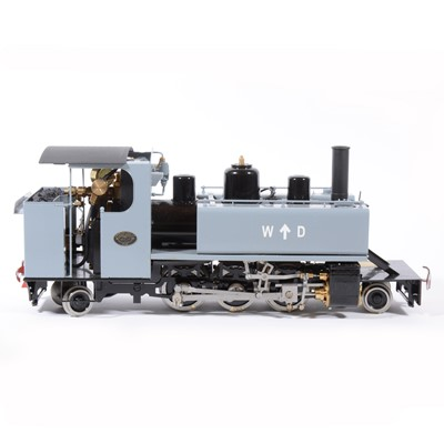 Lot 28-Roundhouse live steam, gauge 1 / G scale, 45mm locomotive, WD Alco 2-6-2T, grey, boxed, with RC.