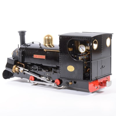 Lot 29 - Roundhouse live steam, gauge 1 / G scale, 45mm locomotive, 'Charles' / Bushloe 0-4-0, black, with instructions, boxed, with RC.