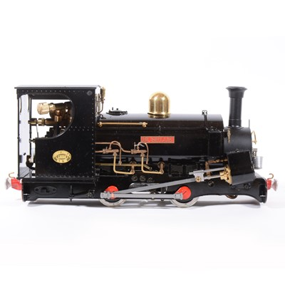 Lot 29-Roundhouse live steam, gauge 1 / G scale, 45mm locomotive, 'Charles' / Bushloe 0-4-0, black, with instructions, boxed, with RC.