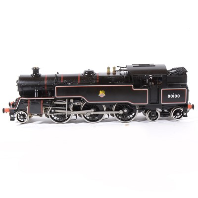 Lot 30-Boande / Wuhu Brand Arts live steam, gauge 1 / G scale, 45mm locomotive, 4MT 2-6-4 BR no.80100, black, with instructions, in case.