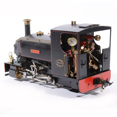 Lot 33-Roundhouse live steam, gauge 1 / G scale, 45mm locomotive, 'Jacqui' 0-4-0, black.
