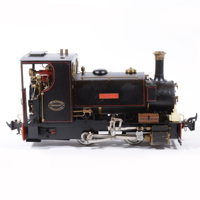 Lot 33-Roundhouse live steam, gauge 1 / G scale, 32mm locomotive, 'Jacqui' 0-4-0, black.