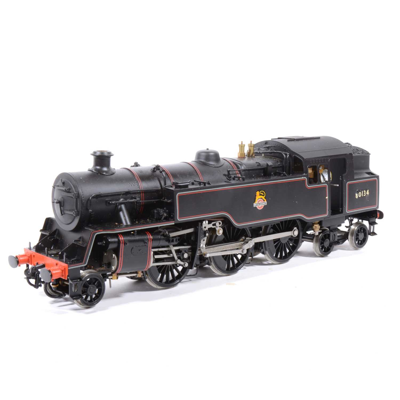 34 - Live steam model, gauge 1 / G scale, 45mm locomotive, 4MT 2-6-4T BR no.80134.