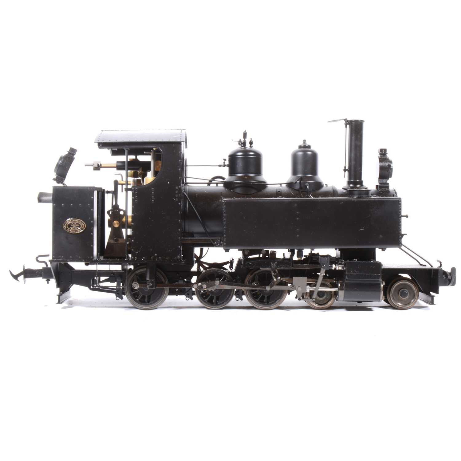 Lot 35-Accucraft live steam, gauge 1 / G scale, 45mm locomotive, 'WD Baldwin' 4-6-0T, with instructions, accessories and box.