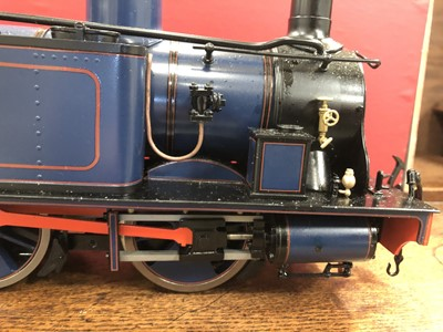 Lot 36-Accucraft live steam, gauge 1 / G scale, 45mm locomotive, Isle of Man 'Caledonia' 0-6-0T, blue no.15, with instructions, accessories and box.