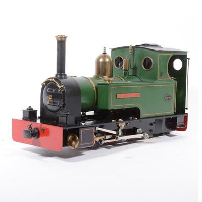 Lot 37 - Merlin Loco Works live steam, gauge 1 / G scale, 32mm locomotive, Major 'Bertie Bassett' 0-6-0 no.488, green, with RC