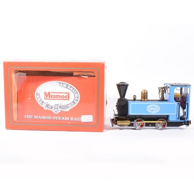 Lot 38-Mamod live steam, locomotive, blue, boxed and instructions.