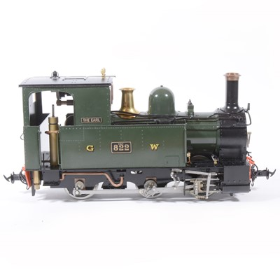 Lot 39-Accucraft live steam, gauge 1 / G scale, 45mm locomotive, W&L Countess 'The Earl', 0-6-0T no.822, with instructions.