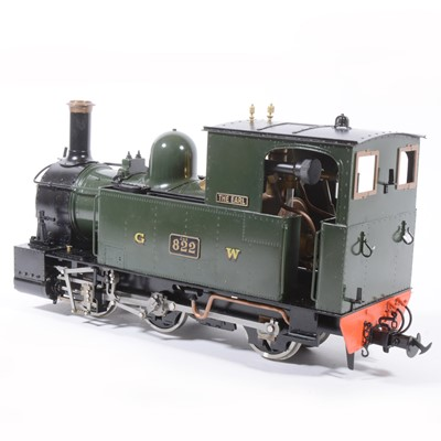 Lot 39 - Accucraft live steam, gauge 1 / G scale, 45mm locomotive, W&L Countess 'The Earl', 0-6-0T no.822, with instructions.