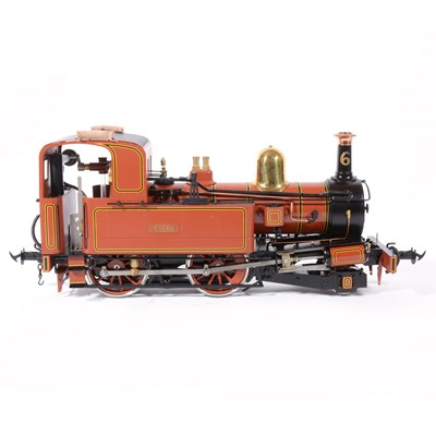 Lot 40-Accucraft live steam, gauge 1 / G scale, 45mm locomotive, Isle of Man 'Peveril', 2-4-0T, with instructions and box.