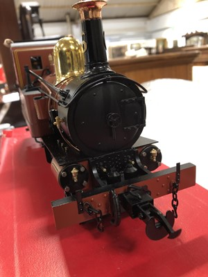 Lot 40 - Accucraft live steam, gauge 1 / G scale, 45mm locomotive, Isle of Man 'Peveril', 2-4-0T, with instructions and box.