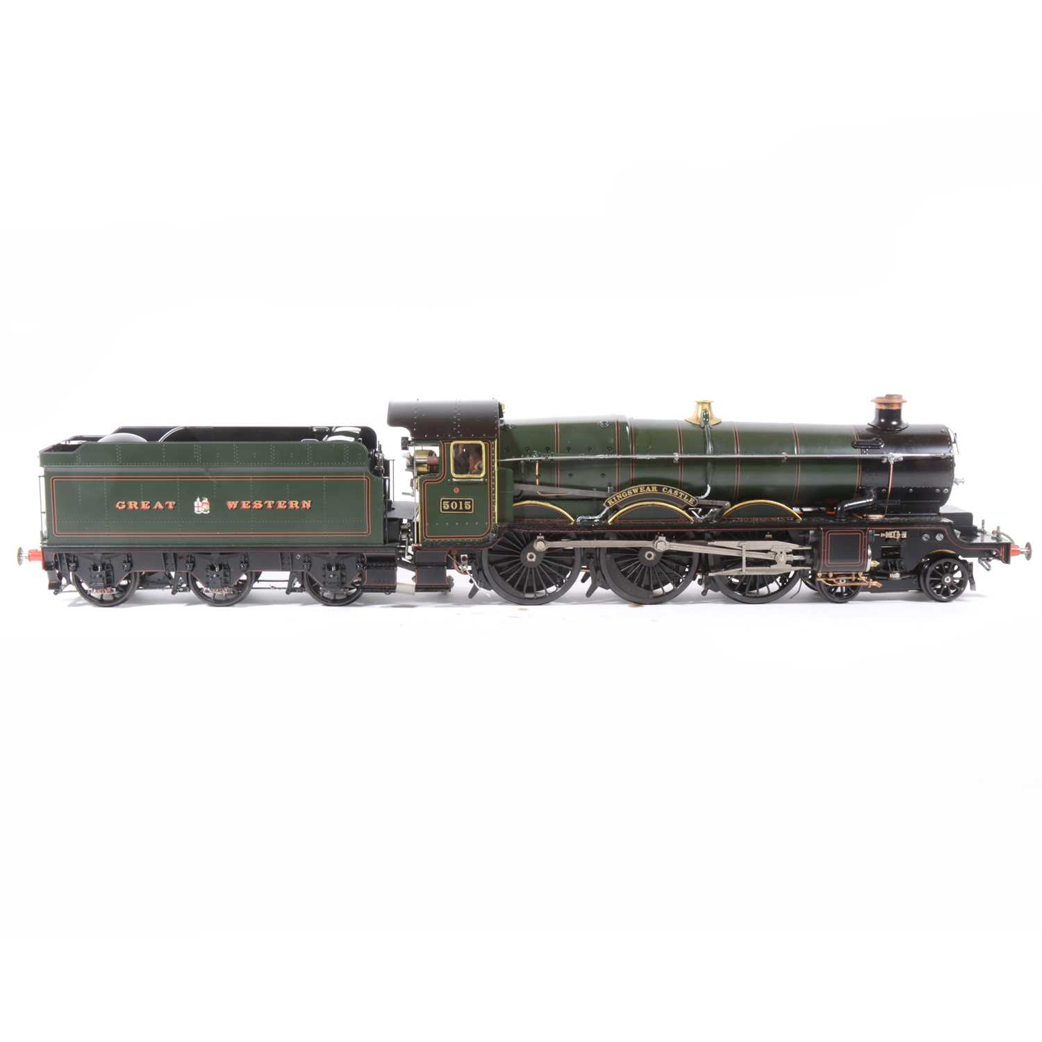 Lot 41 - Aster Hobby live steam, gauge 1 / G scale, 45mm locomotive and tender, 'Kingswear Castle' 4-6-0 GW no.5015, green, in carry case and booklets.