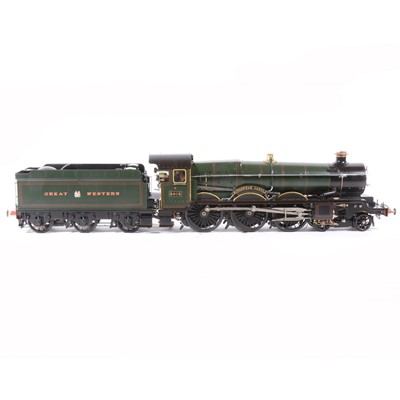 Lot 41-Aster Hobby live steam, gauge 1 / G scale, 45mm locomotive and tender, 'Kingswear Castle' 4-6-0 GW no.5015, green, in carry case and booklets.