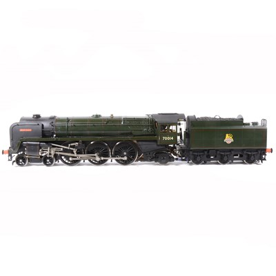 Lot 42-G1M Exclusive models live steam, gauge 1 / G scale, 45mm locomotive and tender, 'Iron Duke' Britannia BR standard class 7 4-6-2 no.70014, green, with instructions, in carry case.
