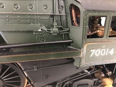 Lot 42 - G1M Exclusive models live steam, gauge 1 / G scale, 45mm locomotive and tender, 'Iron Duke' Britannia BR standard class 7 4-6-2 no.70014, green, with instructions, in carry case.