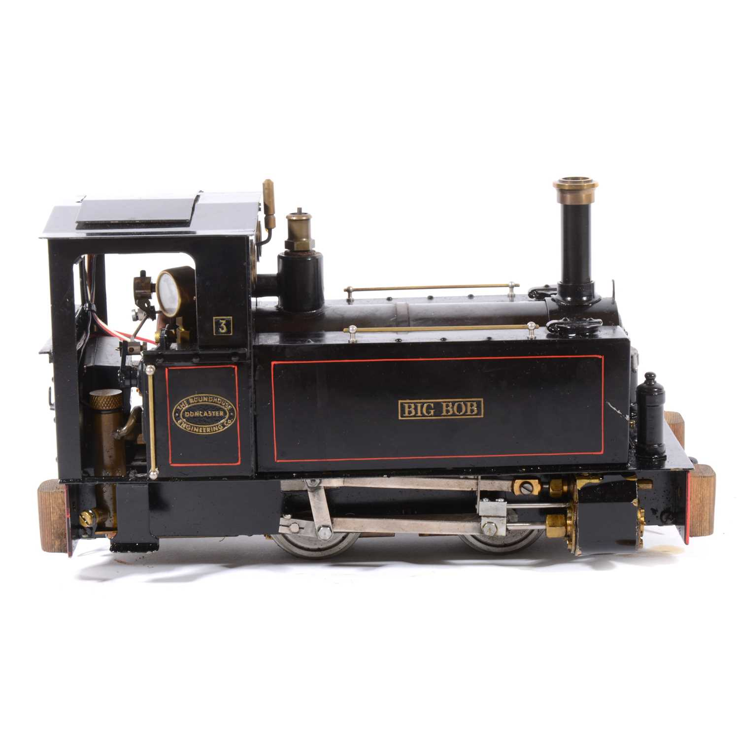 Lot 46-Roundhouse live steam, gauge 1 / G scale, 32mm locomotive, 'Big Bob' 0-4-0, black, in case.