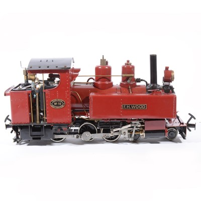 Lot 48-Live steam, gauge 1 / G scale, 32mm locomotive, 'F.H.Wood' Thirlmere Light Railway no. 15, 4-6-0, maroon, in case.