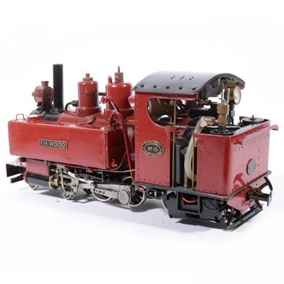 Lot 48-Live steam, gauge 1 / G scale, 45mm locomotive, 'T.H.Wood' Thirlmere Light Railway no. 15, 4-6-0, maroon, in case.