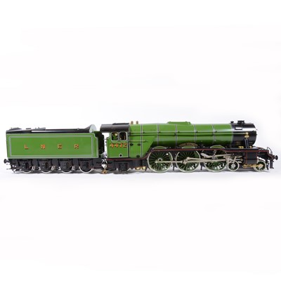 Lot 49 - Aster Hobby live steam, gauge 1 / G scale, 45mm locomotive and tender, 'Flying Scotsman' 4-6-2 LNER no.4472, with wooden carry case and original box.