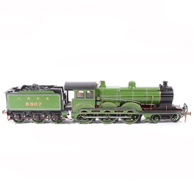 Lot 50-Finescale steam, gauge 1 / G scale, 45mm locomotive and tender, B12 LNER no.8507, 4-6-0, green, in wooden case, with RC