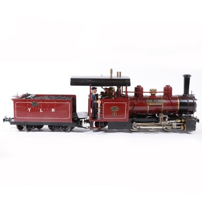 Lot 52-Roundhouse live steam, gauge 1 / G scale, 45mm locomotive and tender, 'The Gaffer' Liberty Belle MkII, TLR 0-6-2 no.8, maroon.