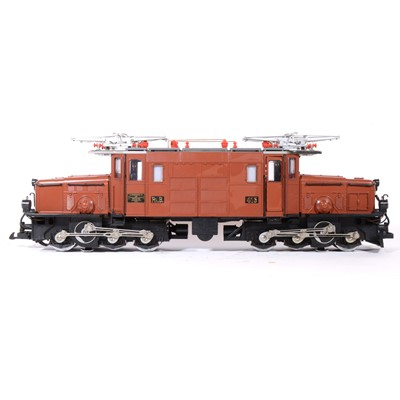 Lot 54-LGB electric, G scale, Crocodile electric locomotive 8-0-8 no.2040, boxed.
