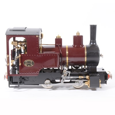 Lot 56-Roundhouse live steam, gauge 1 / G scale, 45mm locomotive, 'Billy' 0-4-0, Victoria maroon, with instructions, in box, with RC