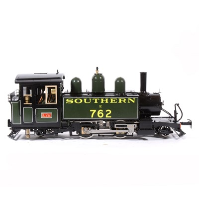 Lot 57-Accucraft live steam, gauge 1 / G scale, 45mm locomotive, 'Lyn' Southern 2-4-2T no.762, green, in box, with RC
