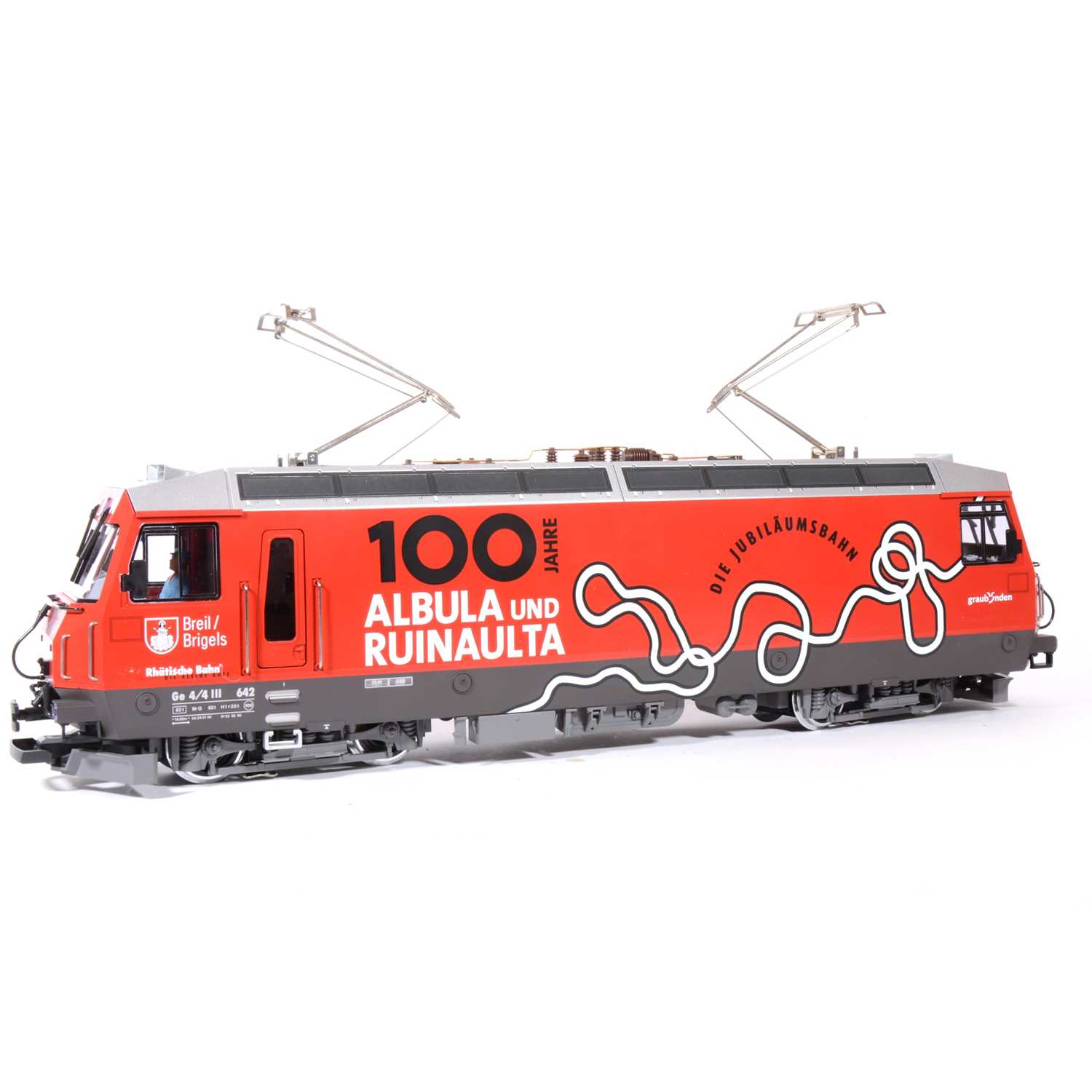 Lot 85-LGB electric, G scale, 100 Jahre Albula und Ruinault locomotive, no.27422, boxed.
