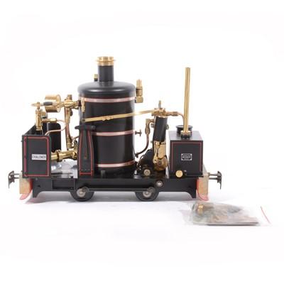 Lot 58 - Regner Models live steam, gauge 1 / G scale, 45mm locomotive, 'Chaloner', 0-4-0, black, boxed.