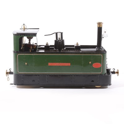 Lot 60-Finescale Engineering Company live steam locomotive, gauge 1 / G scale, Glyn Valley Tramway, 'Sir Theodore', 0-4-0, green, with booklet, in case.