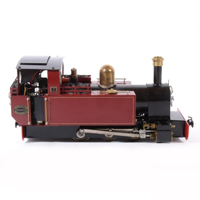 Lot 61-Roundhouse live steam, gauge 1 / G scale, 45mm locomotive, 0-6-0, no.7 maroon, in case.