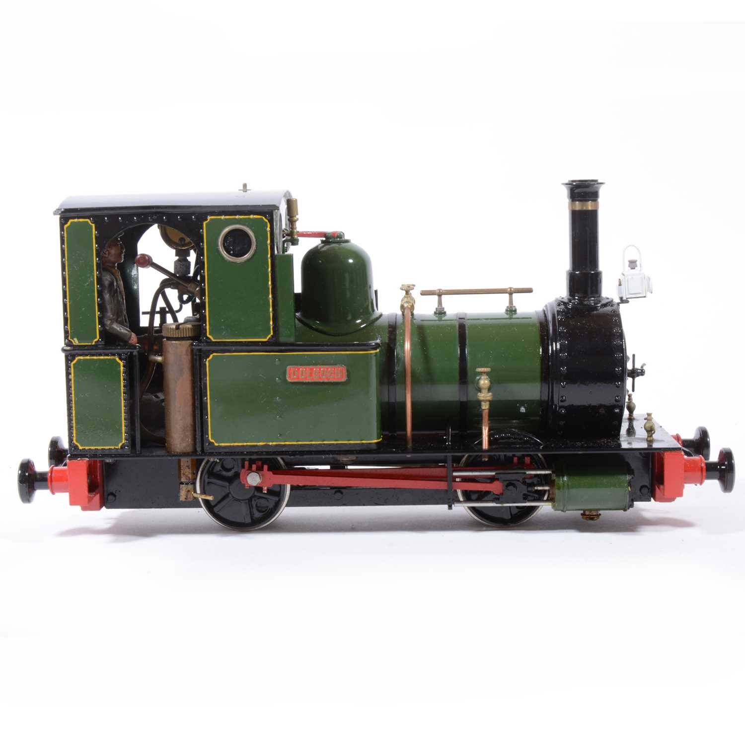 Lot 62 - Finescale Engineering Comany live steam locomotive, gauge 1 / G scale, 32mm, 0-4-0, 'Dolgoch' Fletcher Jennings loco, green, with booklet, in case.