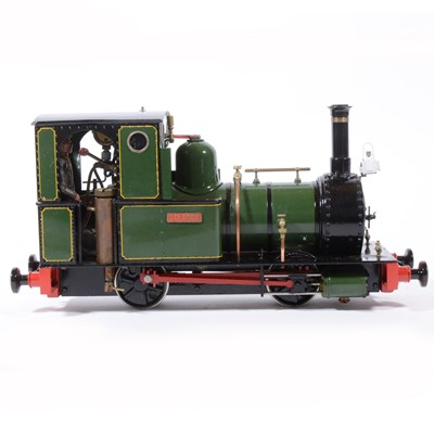 Lot 62-Finescale Engineering Comany live steam locomotive, gauge 1 / G scale, 45mm, 0-4-0, 'Dolgoch' Fletcher Jennings loco, green, with booklet, in case.