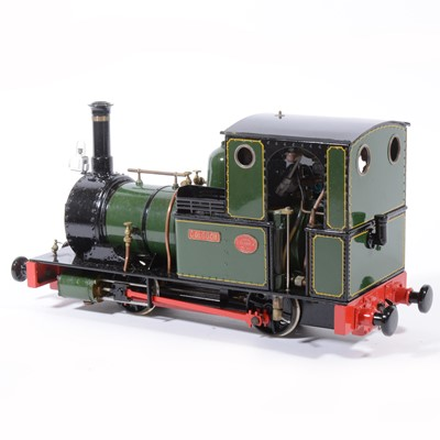 Lot 62-Finescale Engineering Comany live steam locomotive, gauge 1 / G scale, 32mm, 0-4-0, 'Dolgoch' Fletcher Jennings loco, green, with booklet, in case.
