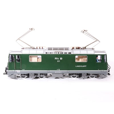 Lot 87 - LGB electric, G scale, RhB GE 4/4 II locomotive, no.25432, boxed.